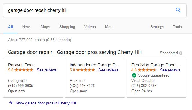 Google Local Search Home Service Ads