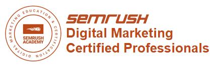 SEM Rush Digital Marketing Certified